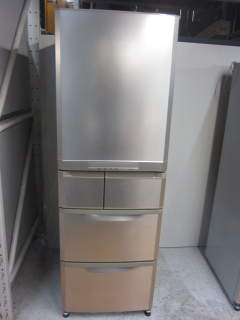 三菱電機5ドア冷凍冷蔵庫 自動製氷機能せずMR-B42R-N