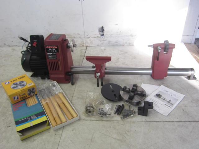 REXON 【付属品多数】REXON レクソン 木工旋盤 WL-12A 木工加工 木工切削 旋盤 木工用旋盤 木工買取しました!