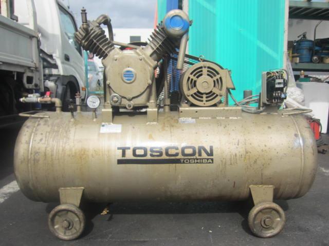 TOSHIBA/東芝 3.7kW 5馬力 TOSCON トスコン 二段圧力開閉器式 エアコンプレッサー買取しました!