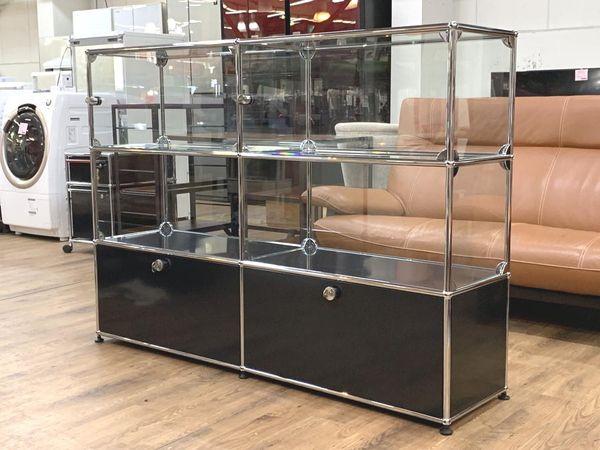 USM Modular Furniture 2列3段 ハラーシステム / ハラーキャビネット ショーケース買取しました!
