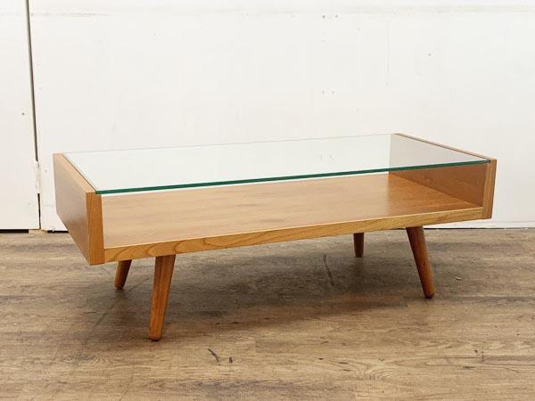 unico/ウニコ ガラスリビングテーブル買取しました!