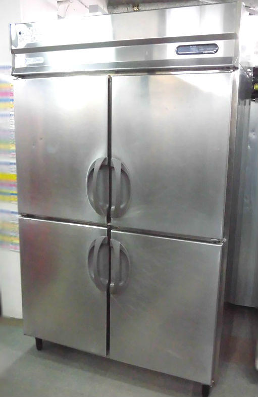 福島工業(フクシマ) 業務用縦型4ドア冷蔵庫 URN-40RMTA1 2009 ¥80.000-