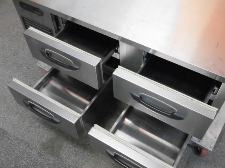 サンヨー低ドロワー冷蔵コールドテーブルSUR-DG1261-2A詳細画像2