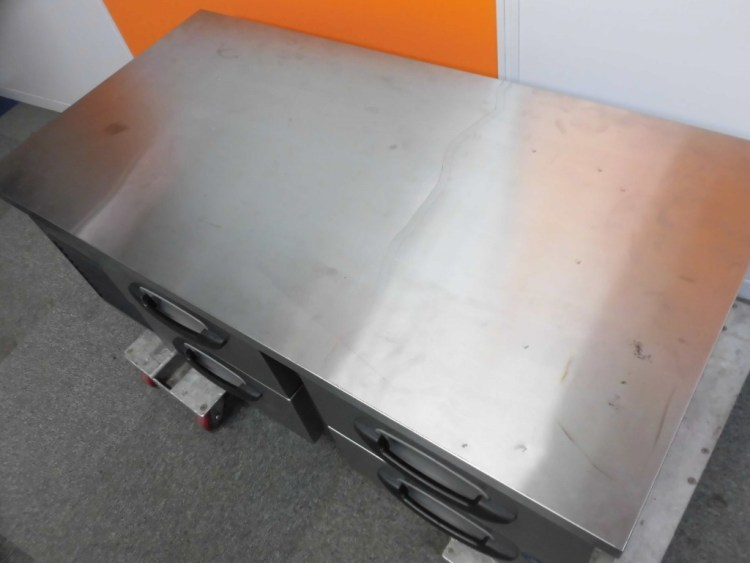 サンヨー低ドロワー冷蔵コールドテーブルSUR-DG1261-2A詳細画像3