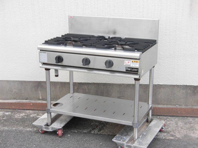 マルゼン 3口ガステーブル RGT-0963B   ¥50.000-