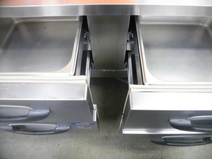 パナソニック低ドロワー冷蔵コールドテーブルSUR-DG1261-2A詳細画像3