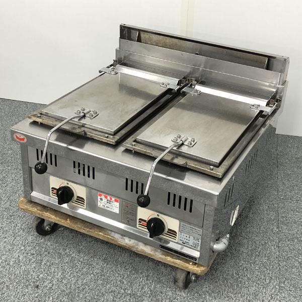 マルゼン ガス餃子焼き機2口 MGZ-066W LPガス 2015年製買取しました!