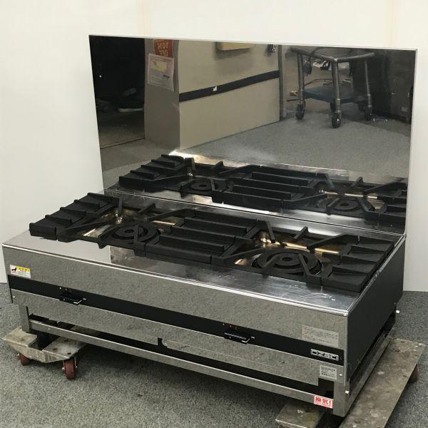 オザキ 2口ガススープレンジ OZ120-60LDX 都市ガス 2014年製