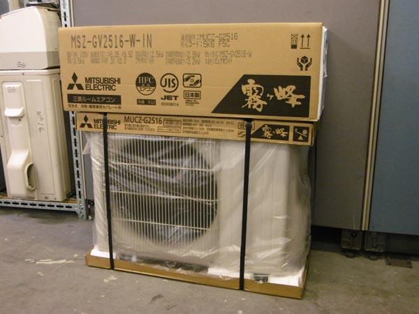 三菱 未使用品 霧ヶ峰 2.5kwルームエアコン MSZ-GV2516W