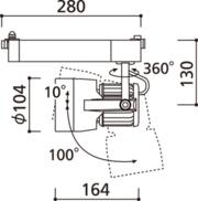 ODELIC/オーデリックLEDスポットライト2台セットXS411180詳細画像3