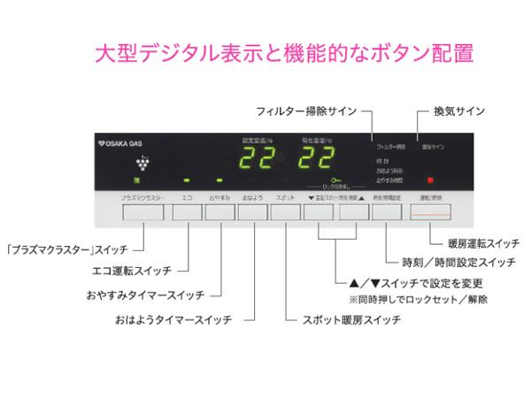 大阪ガスガスファンヒーター140-5963詳細画像2
