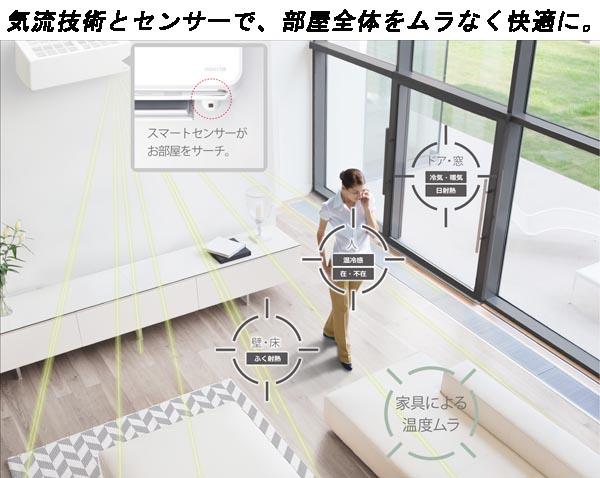 富士通ノクリア 7.1kwルームエアコンAS-M71H2W詳細画像7