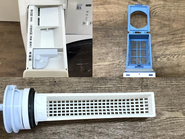 SHARP/シャープ9kg/6kgドラム洗濯乾燥機ES-V540-NR詳細画像5