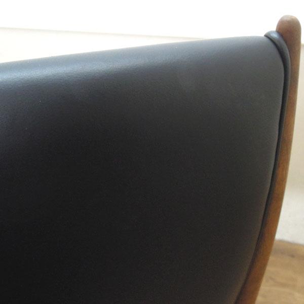 匠工芸ハイバックチェア4脚CREER( クレール )ブラック×ウォールナット詳細画像6