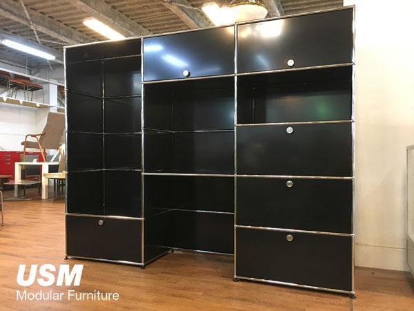 USM Modular Furniture 3列5段 ハラーシステム/ワードローブ/デスク/キャビネット買取しました!
