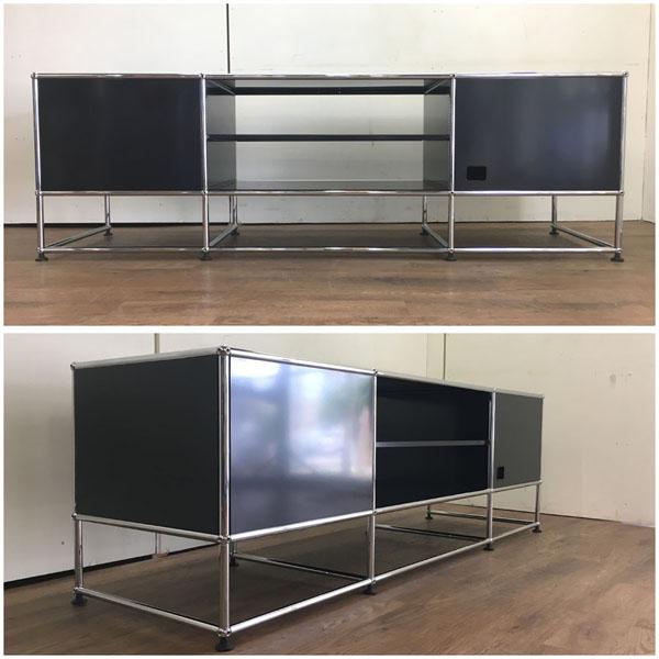 USM Modular Furnitureハラーシステム/リビングボード/テレビボードブラック フリッツ・ハラー詳細画像3