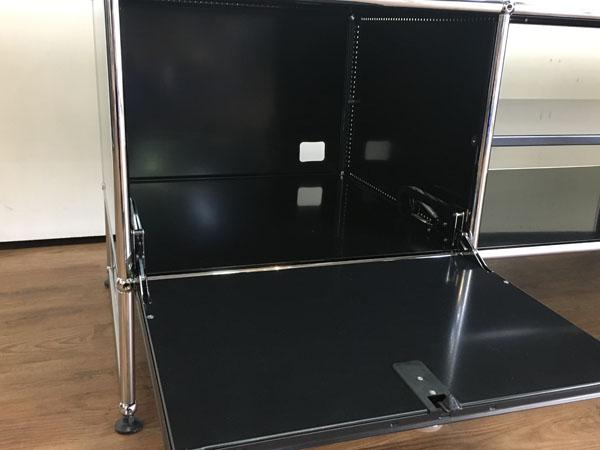 USM Modular Furnitureハラーシステム/リビングボード/テレビボードブラック フリッツ・ハラー詳細画像4