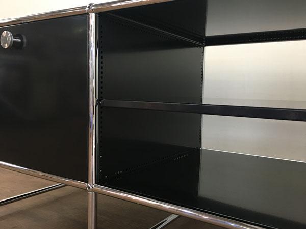 USM Modular Furnitureハラーシステム/リビングボード/テレビボードブラック フリッツ・ハラー詳細画像5