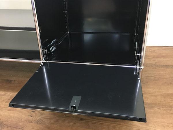 USM Modular Furnitureハラーシステム/リビングボード/テレビボードブラック フリッツ・ハラー詳細画像6