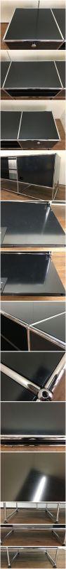 USM Modular Furnitureハラーシステム/リビングボード/テレビボードブラック フリッツ・ハラー詳細画像7