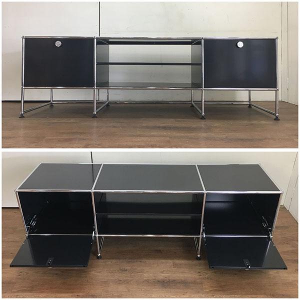 USM Modular Furnitureハラーシステム/リビングボード/テレビボードブラック フリッツ・ハラー詳細画像2