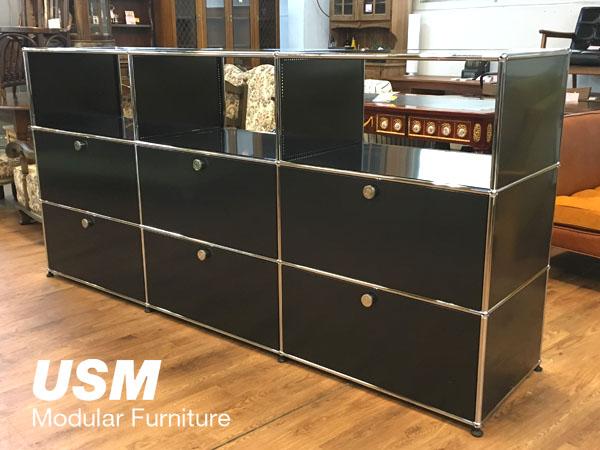 USM Modular Furniture3列3段 ハラーシステム / ハラーキャビネットブラック