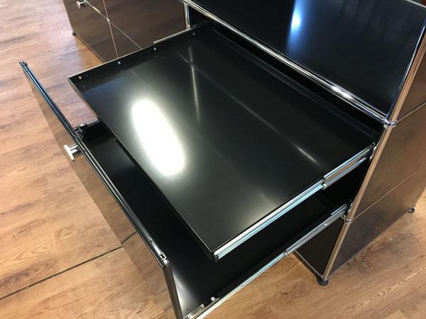 USM Modular Furniture3列3段 ハラーシステム / ハラーキャビネットブラック詳細画像5