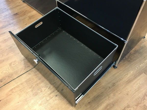 USM Modular Furniture3列3段 ハラーシステム / ハラーキャビネットブラック詳細画像6