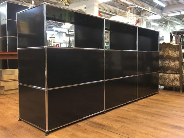 USM Modular Furniture3列3段 ハラーシステム / ハラーキャビネットブラック詳細画像2