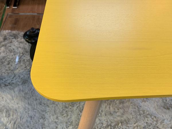 MOBEL TOKO( メーベルトーコー )【未使用品】テーブル しかく ぼこ きいろPALAPELI( パラペリ )詳細画像4
