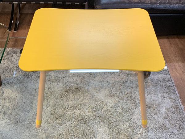 MOBEL TOKO( メーベルトーコー )【未使用品】テーブル しかく ぼこ きいろPALAPELI( パラペリ )詳細画像2