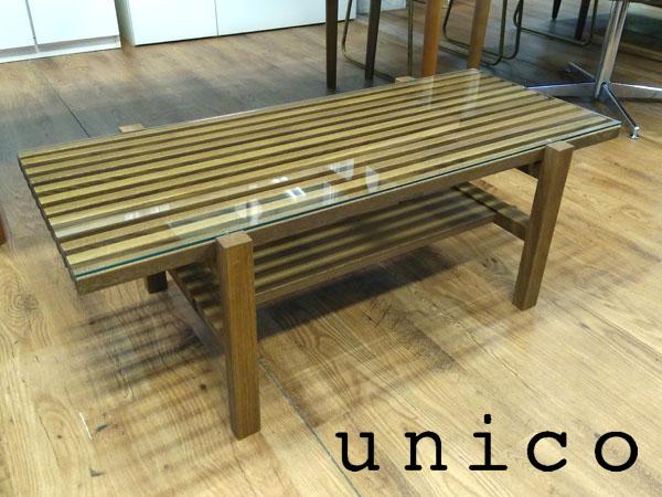 unico( ウニコ )ローテーブルLIJN( レイン )ブラウン