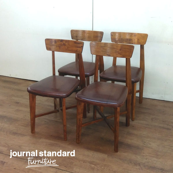 journal standard Furniture/ジャーナルスタンダードファニチャーダイニングチェア4脚CHINON LEATHER/シノン