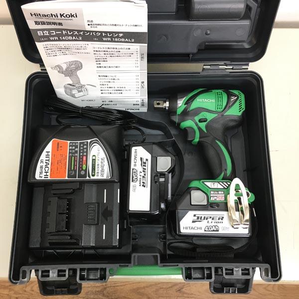 HITACHI/日立工機18V コードレスインパクトレンチWR18DBAL2 2LLCK グリーン