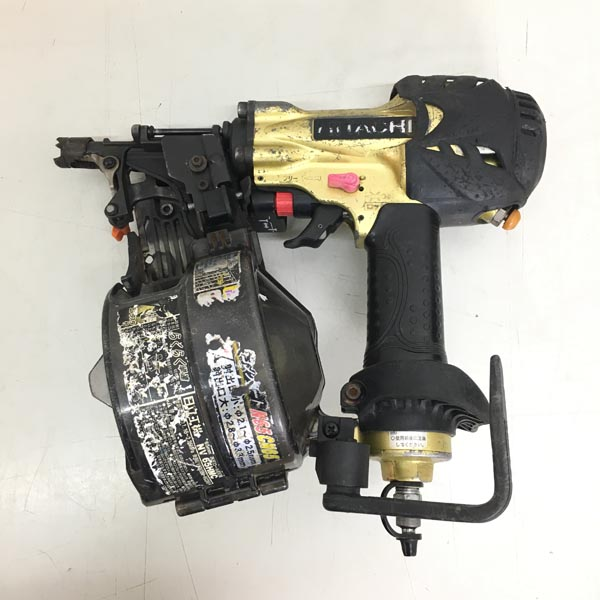 HITACHI / 日立工機65mm 高圧ロール釘打機NV65HMC ゴールド