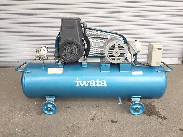 アネスト岩田 2馬力 給油式レシプロコンプレッサー買取しました!