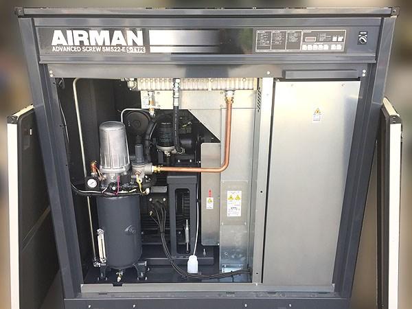 北越工業/AIRMAN屋外設置型 スクリューコンプレッサーSMS22ES-6E詳細画像2