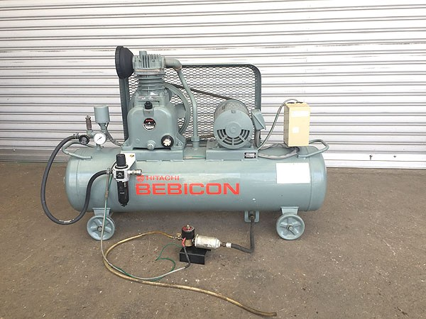 HITACHI/日立工機ベビコン コンプレッサー 減圧機能 ドレントラップ付1.5P-9.5V6 60Hz