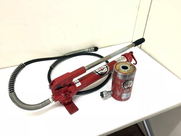 RIKEN/理研 手動油圧ポンプ/センターホールドシリンダー P-1B/SC2-40