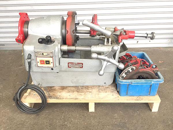 REX/レッキス パイプマシン ねじ切り旋盤 パイプ加工機買取しました!