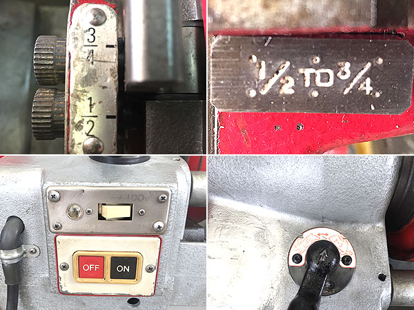 REX/レッキスパイプマシン ねじ切り旋盤 パイプ加工機90A�V詳細画像3