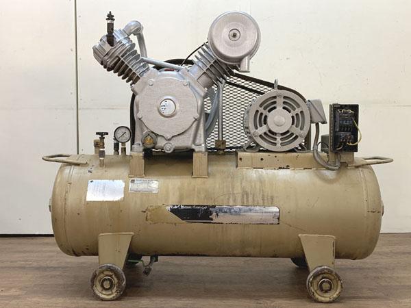 TOSHIBA/東芝3.7kW 5馬力 給油式 レシプロコンプレッサー/エアーコンプレッサーTOSCON SP106-37T4