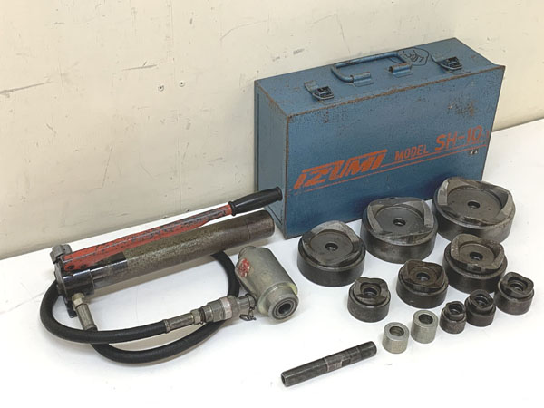 IZUMI/泉精器/イズミ 厚鋼用 手動油圧式パンチャー買取しました!