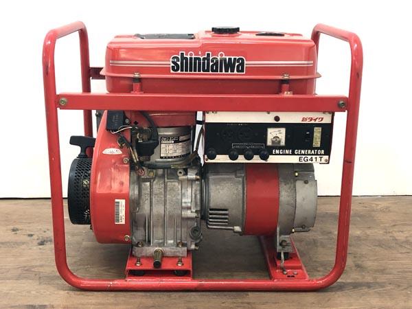 shindaiwa/新ダイワ4.1kVA 3相200V ガソリンエンジン発電機EG41T