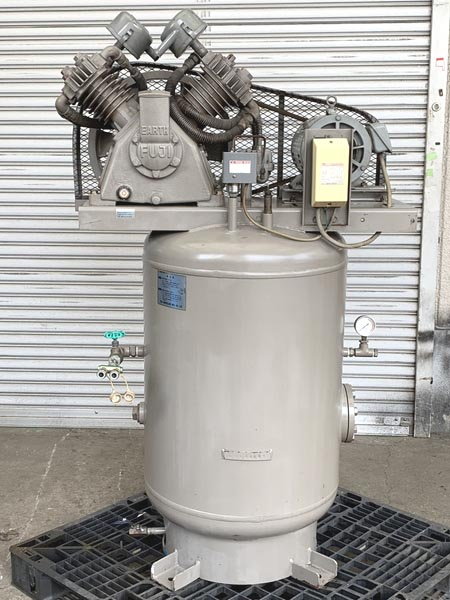 NISSALCO/ニッサルコ 3.7kW 5馬力 中圧 縦型 給油式レシプロコンプレッサー買取しました!