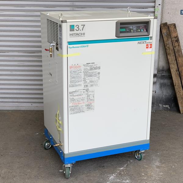 HITACHI/日立産機システム 3.7kW 5馬力 パッケージ型オイルフリーエアーコンプレッサー BEBICON/ベビコン POD-3.7MNP6
