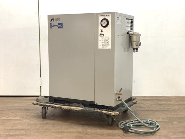 ANEST IWATA/アネスト岩田 0.75kW 1馬力 パッケージ型オイルフリーエアーコンプレッサー ドライヤー付 60Hz専用買取しました!