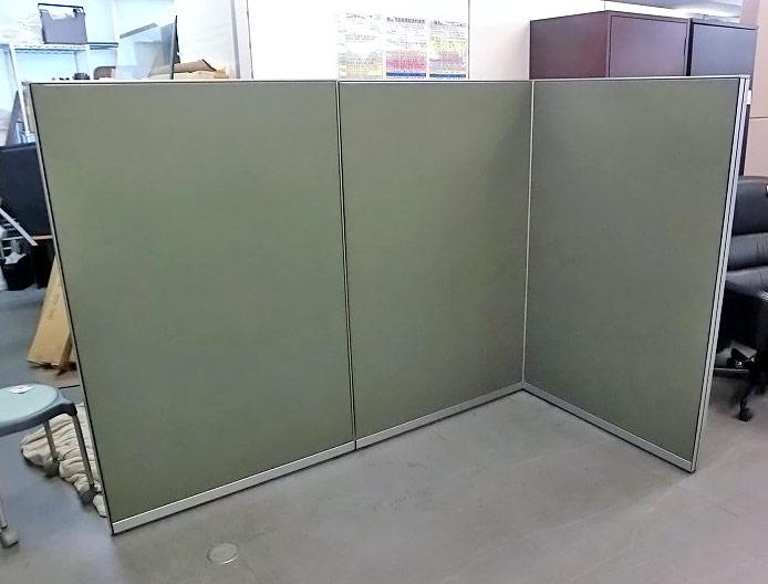 コクヨ 3連L型パーテーション 中古|オフィス家具|パーテーション