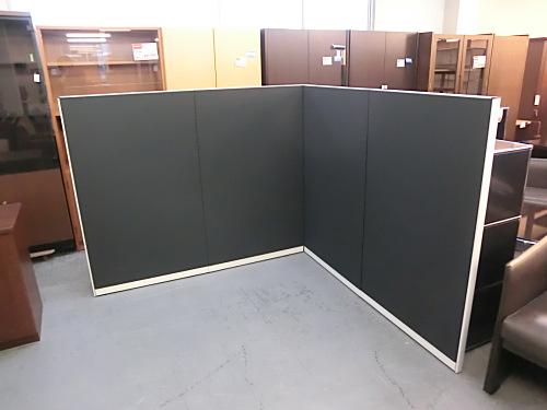 コクヨ 4連L型パーテーション 中古|オフィス家具|パーテーション