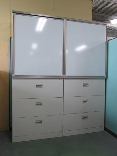 オカムラ スライドボード書庫 中古|オフィス家具|書庫